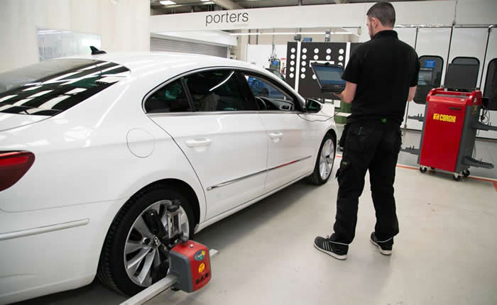 Electronic Wheel Alignment